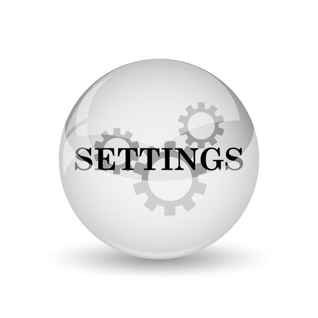 settings: Settings icon. Internet button on white background