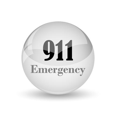 bad service: 911 Emergency icon. Internet button on white background