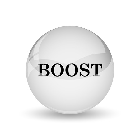 boost: Boost icon. Internet button on white background