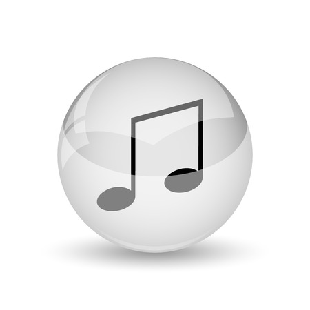melodic: Music icon. Internet button on white background