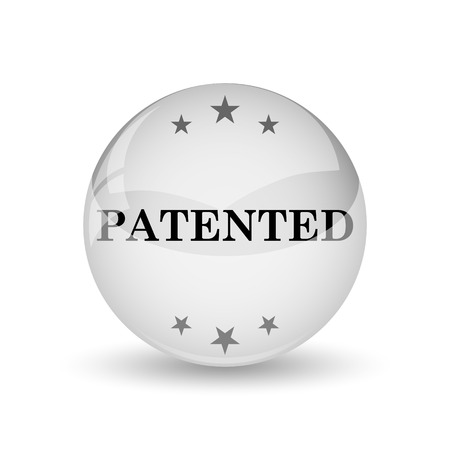 secured property: Patented icon. Internet button on white background