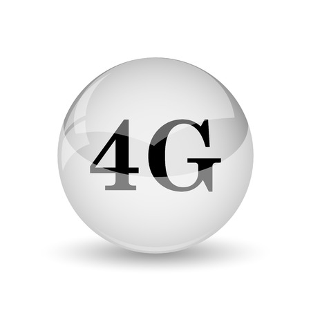 communications tower: 4G icon. Internet button on white background