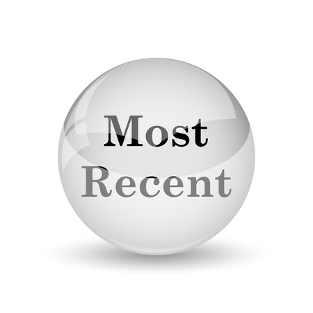 recent: Most recent icon. Internet button on white background Stock Photo