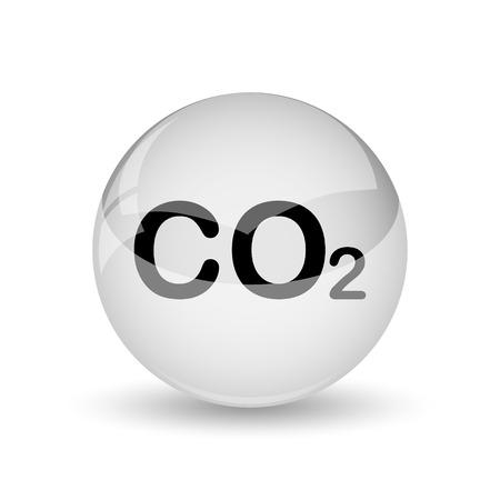 co2: CO2 icon. Internet button on white background Stock Photo