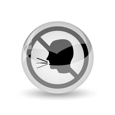 noisily: No talking icon. Internet button on white background