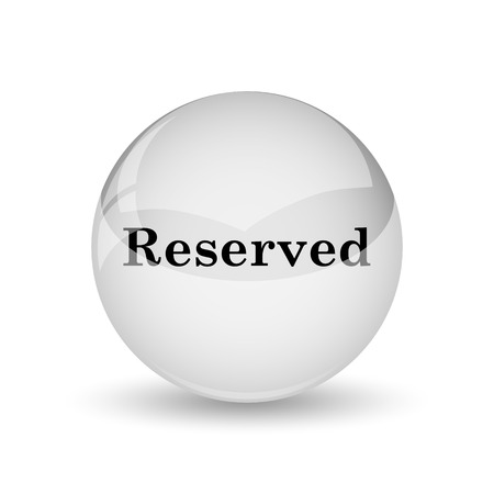 market place: Reserved icon. Internet button on white background