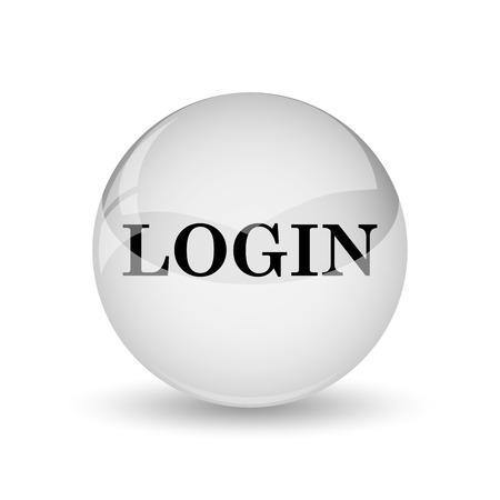 login icon: Login icon. Internet button on white background