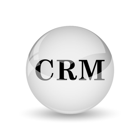 crm: CRM icon. Internet button on white background