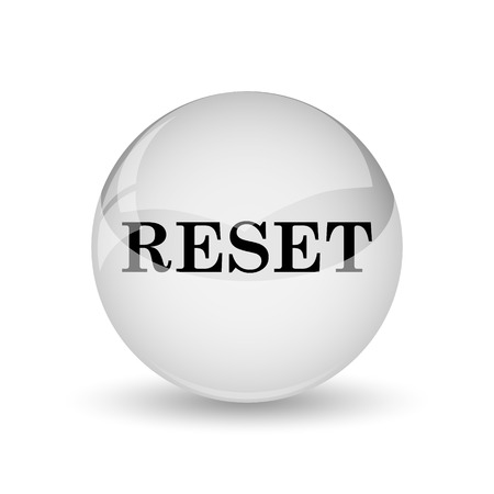 redesign: Reset icon. Internet button on white background