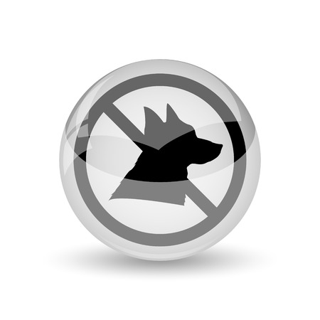 excluded: Forbidden dogs icon. Internet button on white background