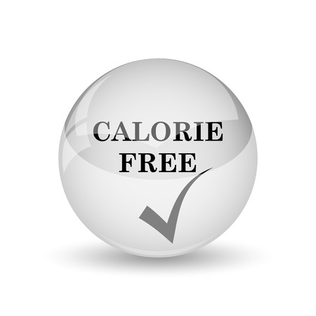 calorie: Calorie free icon. Internet button on white background