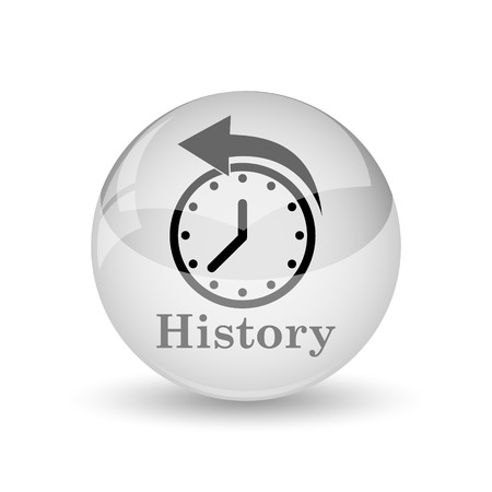 history icon: History icon. Internet button on white background