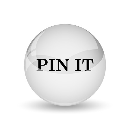 tacks: Pin it icon. Internet button on white background