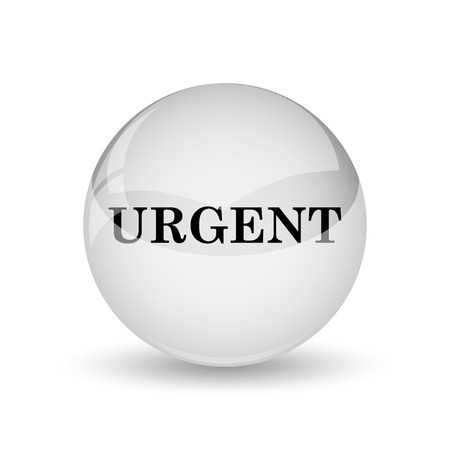 promptness: Urgent icon. Internet button on white background