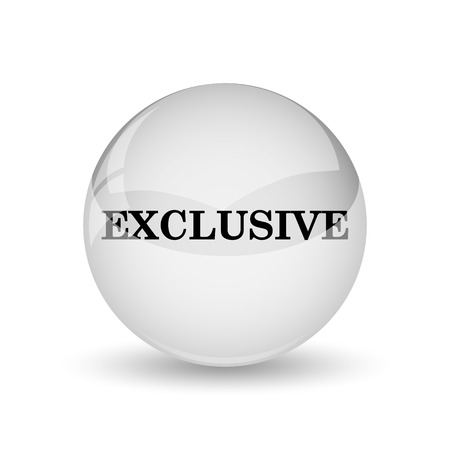 exclusive icon: Exclusive icon. Internet button on white background