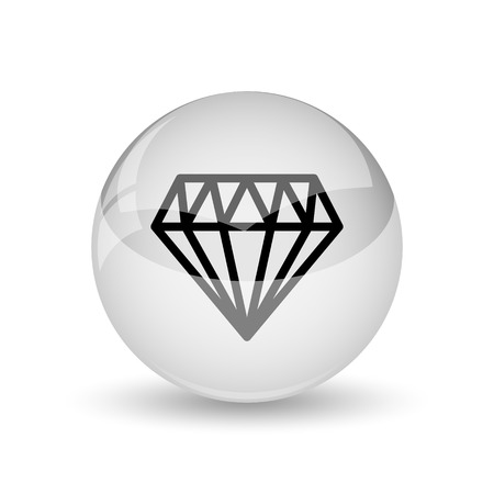unbreakable: Diamond icon. Internet button on white background