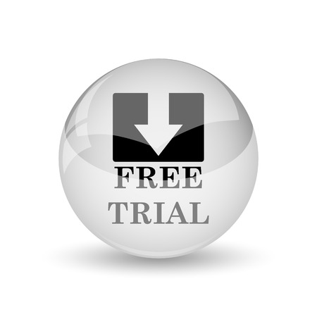 grant: Free trial icon. Internet button on white background Stock Photo