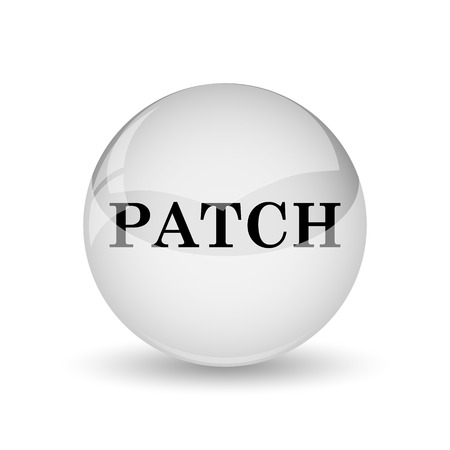 interconnect: Patch icon. Internet button on white background