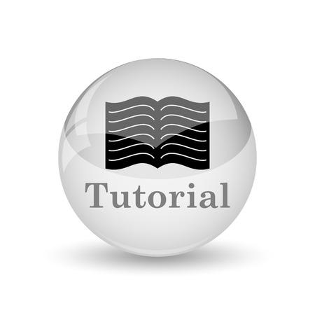 tutorial: Tutorial icon. Internet button on white background Stock Photo