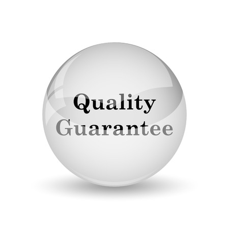 best security: Quality guarantee icon. Internet button on white background Stock Photo