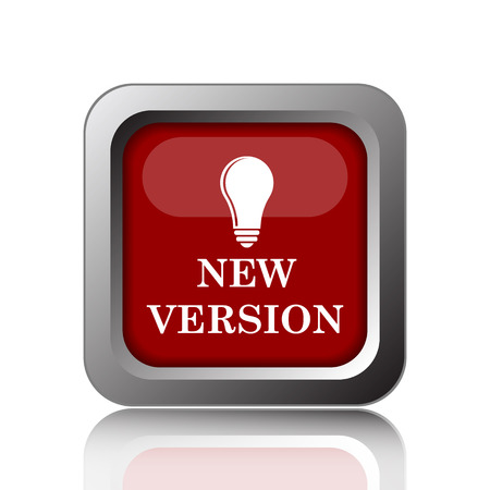 version: New version icon. Internet button on white background