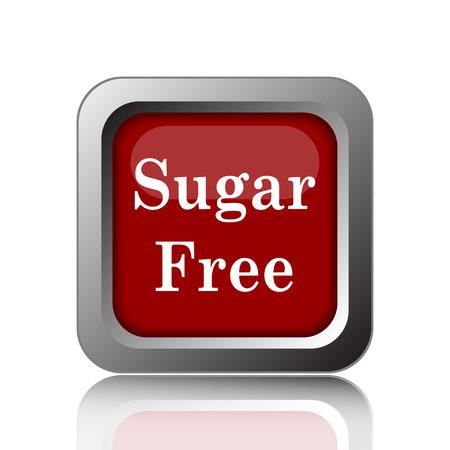 sweetener: Sugar free icon. Internet button on white background Stock Photo