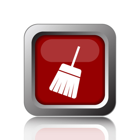 sweep: Sweep icon. Internet button on white background Stock Photo