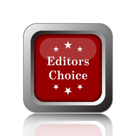 qualified: Editors choice icon. Internet button on white background