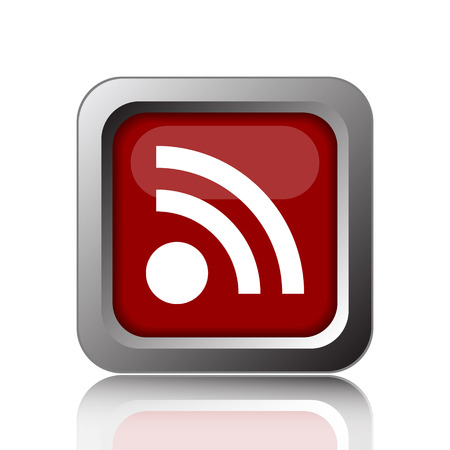rss sign: Rss sign icon. Internet button on white background