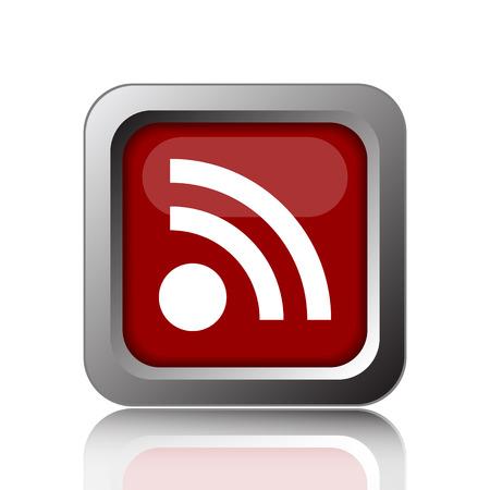 meta: Rss sign icon. Internet button on white background