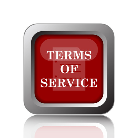 terms: Terms of service icon. Internet button on white background