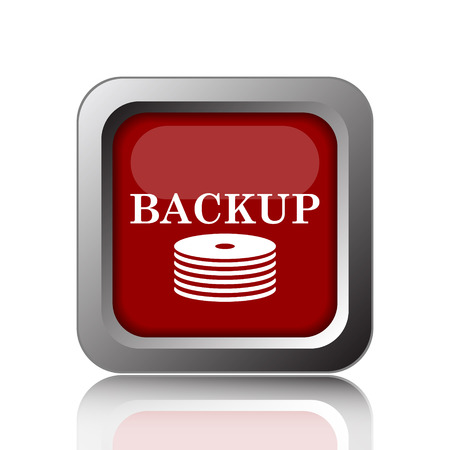 archiving: Back-up icon. Internet button on white background