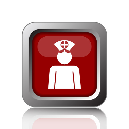 nursing uniforms: Nurse icon. Internet button on white background