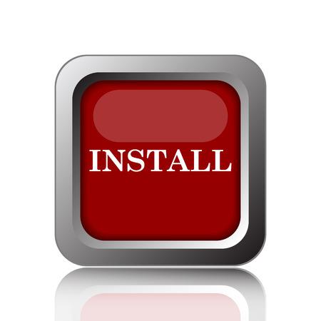 operative: Install icon. Internet button on white background