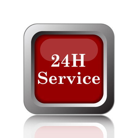 aftersale: 24H Service icon. Internet button on white background Stock Photo
