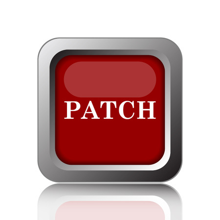 transmitting: Patch icon. Internet button on white background