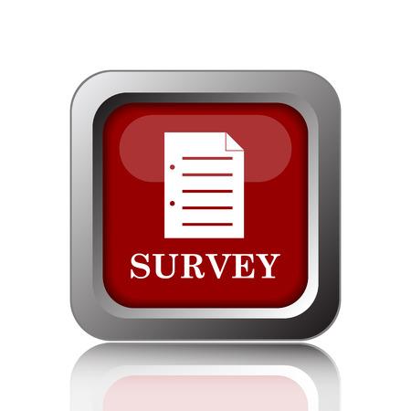satisfy: Survey icon. Internet button on white background Stock Photo