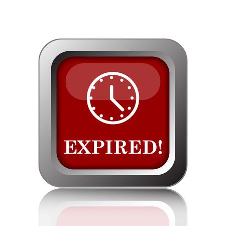 expiration: Expired icon. Internet button on white background