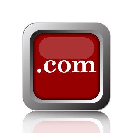 commercially: .com icon. Internet button on white background