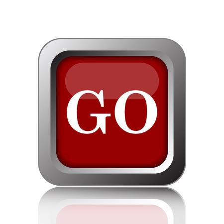 go button: GO icon. Internet button on white background