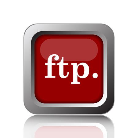 ftp: ftp. icon. Internet button on white background Stock Photo