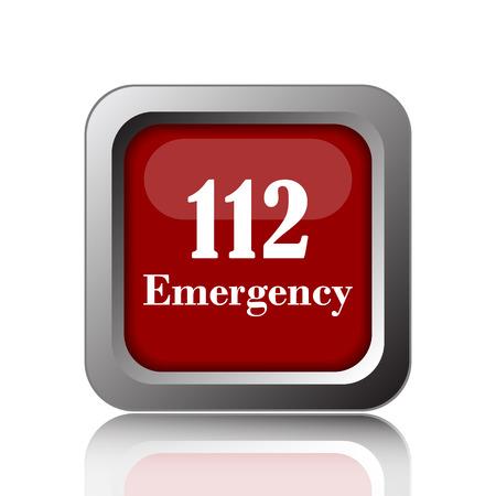 bad service: 112 Emergency icon. Internet button on white background Stock Photo