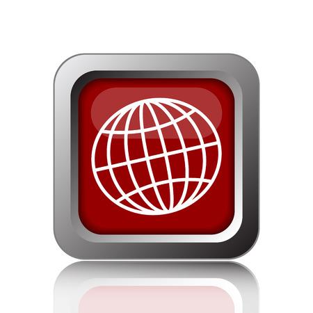 parallel world: Globe icon. Internet button on white background