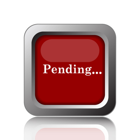 pending: Pending icon. Internet button on white background
