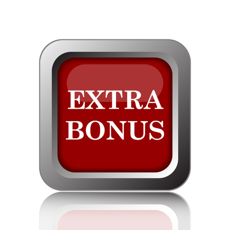 extra cash: Extra bonus icon. Internet button on white background
