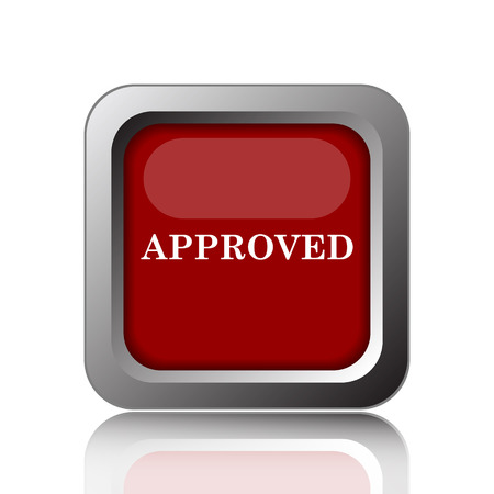 proceed: Approved icon. Internet button on white background