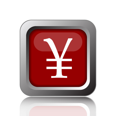 yen: Yen icon. Internet button on white background