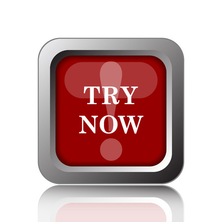 try: Try now icon. Internet button on white background