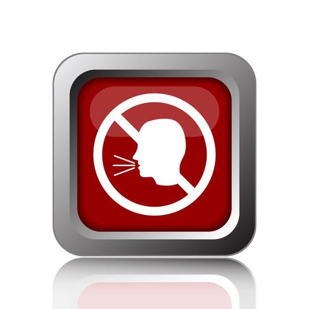 No talking icon. Internet button on white background