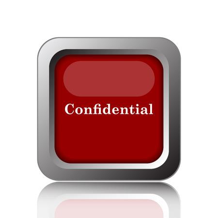 confidentiality: Confidential icon. Internet button on white background Stock Photo